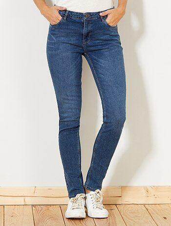 Calças de ganga slim com cintura super alta - Comprimento US 30 - Kiabi