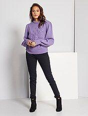 Calças de ganga slim com cintura super alta - Comprimento US 30