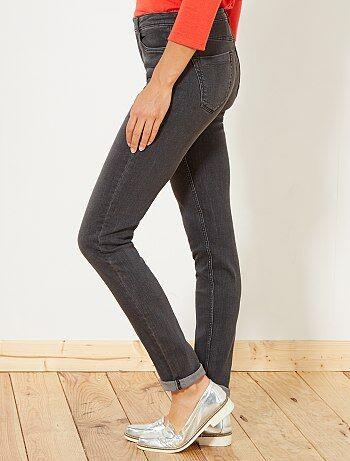 Calças de ganga slim com cintura super alta - Comprimento US32 - Kiabi