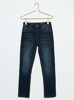 Jeans - Calças de ganga slim com desgastes