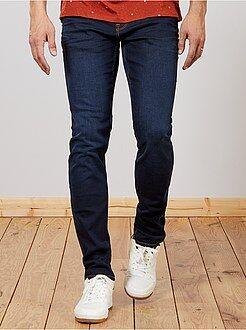 Homem com mais de 1,90m de altura - Calças de ganga slim de algodão elástico L36 +1m90 - Kiabi