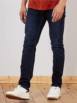 Homem com mais de 1,90m de altura - Calças de ganga slim de algodão elástico L38 +1m90 - Kiabi