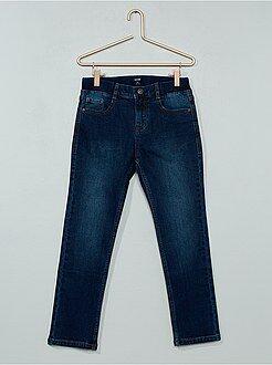 Jeans - Calças de ganga slim efeito plissado - Kiabi