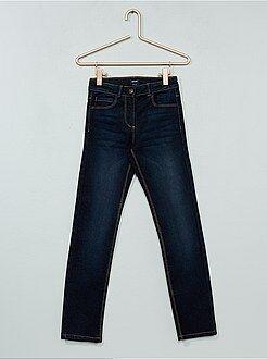 Jeans - Calças de ganga slim efeito usado - Kiabi