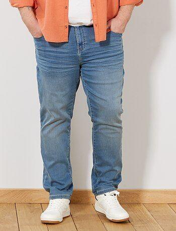 Homem tamanhos grandes - Calças de ganga slim elásticas - Kiabi