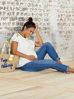 Futura mamã - Calças de gravidez em ganga - Kiabi
