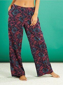 Calças de pijama acetinadas com estampado