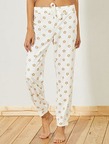 Calças de pijama em polar - Kiabi