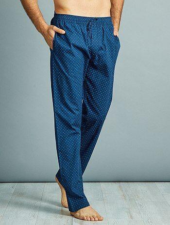 Calças de pijama em popelina de puro algodão - Kiabi