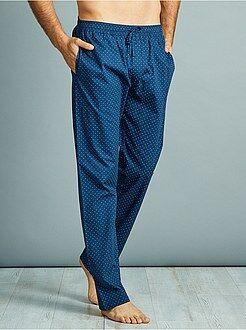 Pijama, roupão - Calças de pijama em popelina de puro algodão - Kiabi