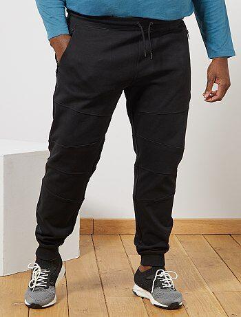 Calças em moletão com recortes nos joelhos - Kiabi
