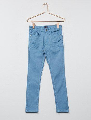 Menino 3-12 anos - Calças justas com 5 bolsos - Kiabi