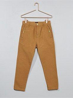 Calças - Calças largas texturadas - Kiabi