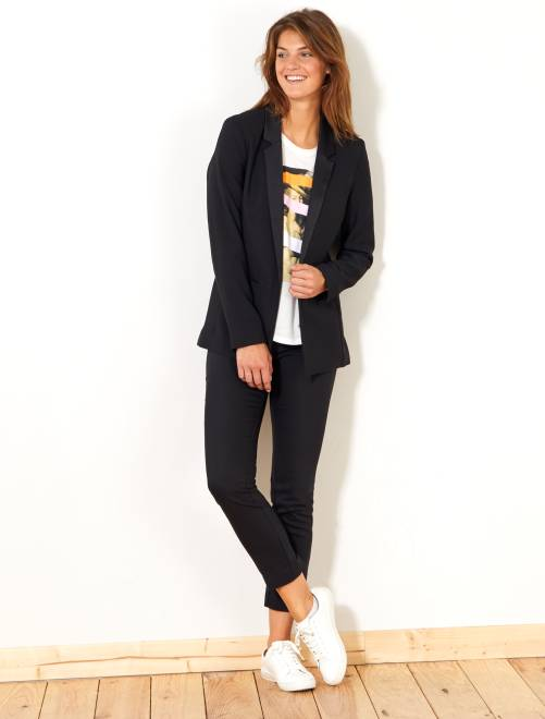 Calças skinny elásticas curtas                       Preto Mulher do 34 até 48