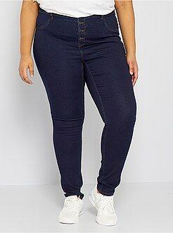 Jeans - Calças skinny em ganga elástica de cintura subida