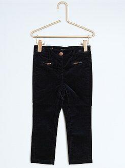 Calças, jeans, legging - Calças slim em veludo