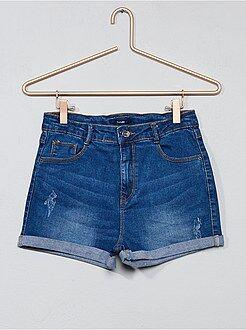 Calças curtas, calções - Calções de ganga deslavados - Kiabi