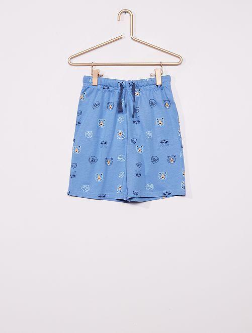 Calções de pijama                             AZUL
