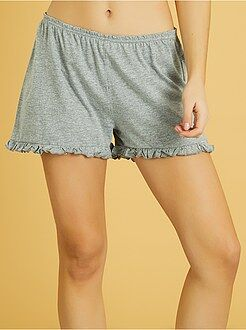 Calções de pijama com folhos - Kiabi