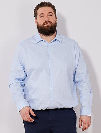 Homem tamanhos grandes - Camisa a direito em algodão Oxford - Kiabi