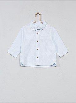 Camisa algodão e linho + laço - Kiabi
