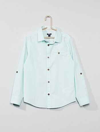 d97eda305 Menino 3-12 anos - Camisa com estampado atrás - Kiabi