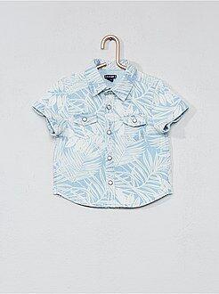 Camisa, blusa tamanho 3m - Camisa com estampado folhas - Kiabi