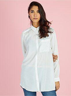 Camisas - Camisa comprida em viscose - Kiabi