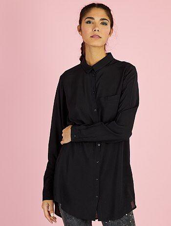 Camisa comprida em viscose - Kiabi