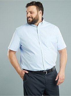 Camisa conforto em popelina com micro motivos