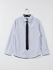 Camisa de algodão + gravata