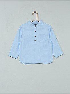 Camisa, blusa - Camisa de cambraia com gola mao - Kiabi