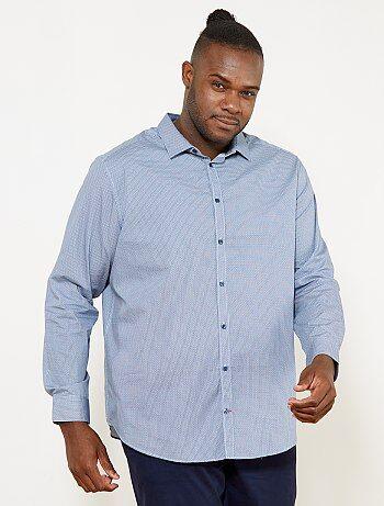 Camisa de corte direito com micro motivo - Kiabi