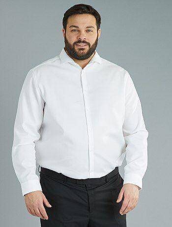 Homem tamanhos grandes - Camisa de corte direito de fantasia Easy Iron - Kiabi