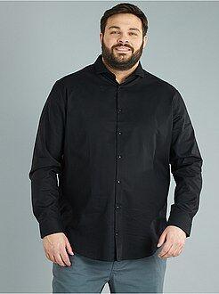 Camisa de corte direito em algodão piqué - Kiabi