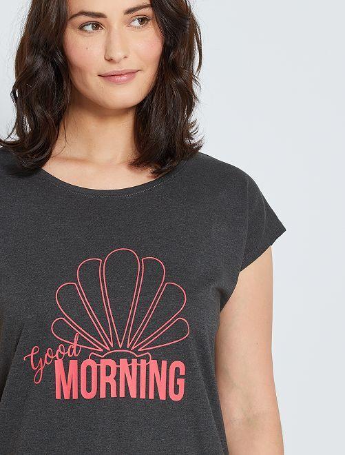 Camisa de dormir de conceção ecológica                                         Cinza Escuro