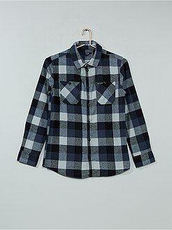 Camisa - Camisa de flanela aos quadrados - Kiabi
