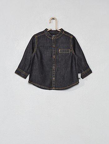 Menino 0-36 meses - Camisa de ganga com colarinho redondo - Kiabi 48d6e1626c4