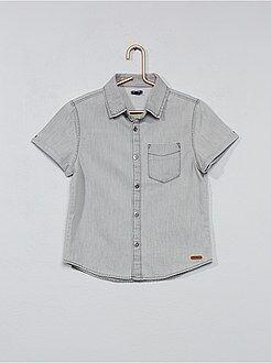 Camisa - Camisa de ganga - Kiabi