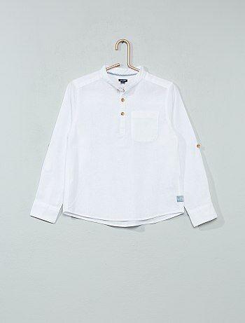 Camisa de linho e algodão - Kiabi