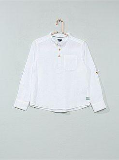 Camisa - Camisa de linho e algodão - Kiabi