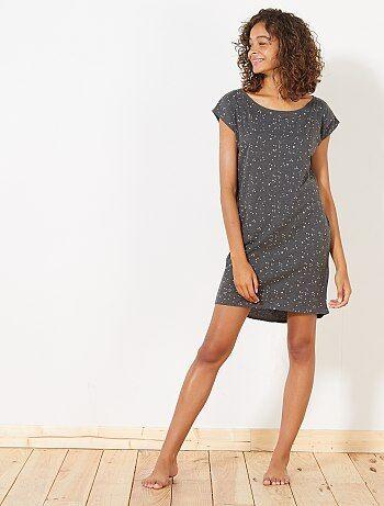 Camisa de noite em algodão - Kiabi