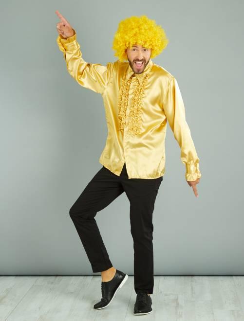 Camisa disco acetinada                                                                 Dourado