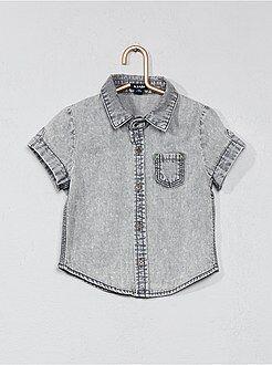 Camisa, blusa - Camisa efeito deslavado - Kiabi
