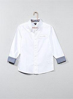 Camisa em algodão texturado