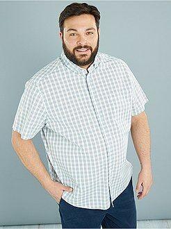 Camisa - Camisa em popelina estampada e corte a direito