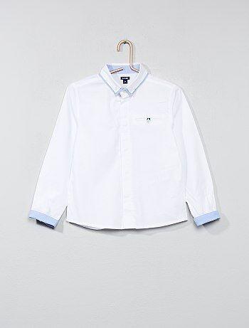 Camisa em puro algodão texturado - Kiabi