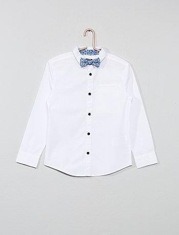e19f83ab8 Menino 3-12 anos - Camisa estampada + laço - Kiabi