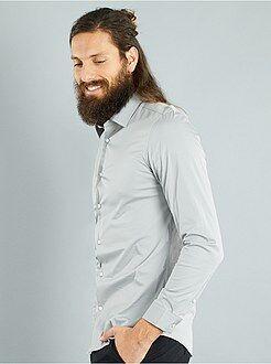 Camisa fitted elástica - Kiabi