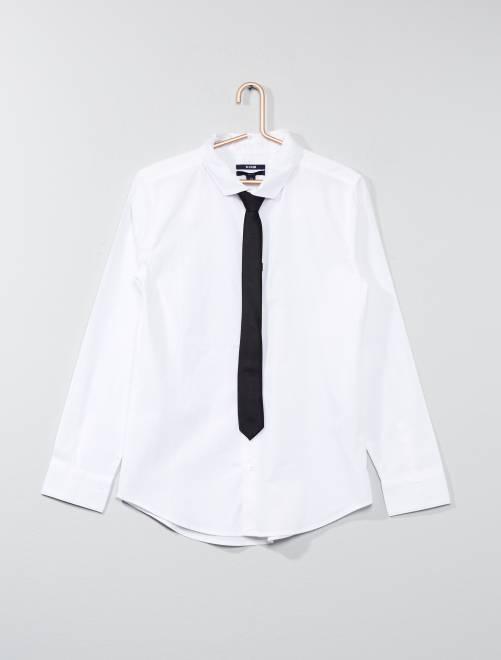 Camisa + gravata                     branco